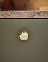 Мебельная ручка кнопка, замак, цвет золото глянец