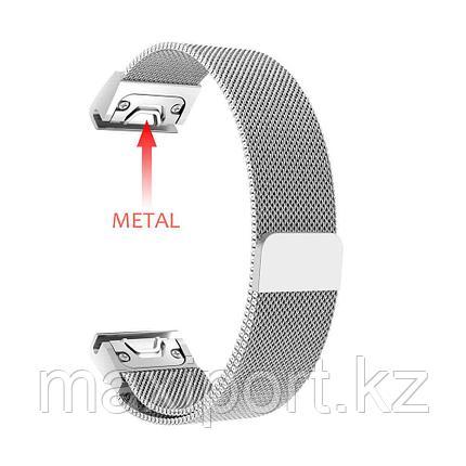 Ремешок магнитный  (серый металл) 20мм для Garmin fenix 5s, fenix 5s plus, fenix 6s, фото 2