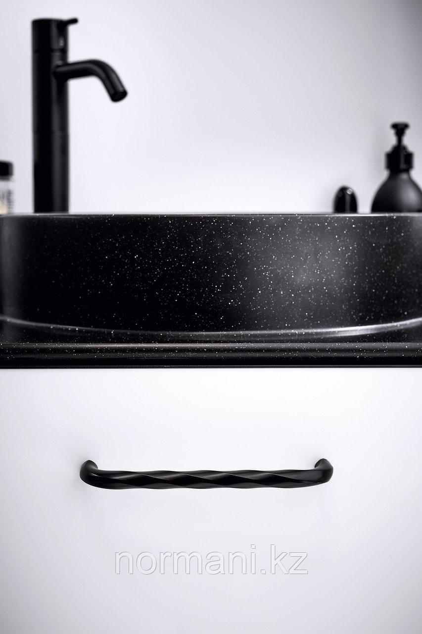 Мебельная ручка скоба отделка черный матовый 160мм
