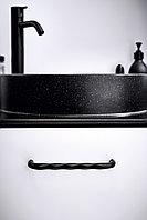 Мебельная ручка скоба, замак, размер посадки 160мм, цвет черный матовый