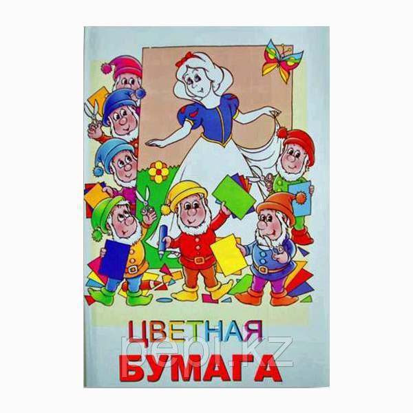 Бумага цветная 8цв/16 л. односторонняя мелованная