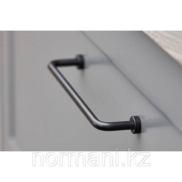 Мебельная ручка скоба, замак, размер посадки 160 мм, цвет черный матовый