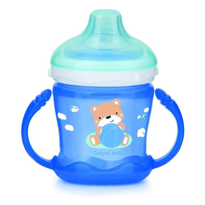 Поильник-непроливайка Canpol babies Sweet Fun, цвет голубой, 180 мл