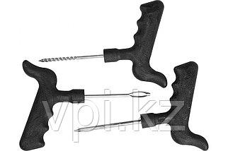 Набор для ремонта бескамерных шин: шило, игла, рашпиль.  3пр. STAYER MASTER