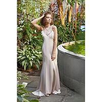 "Платье женское MINAKU ""Adele"", размер 42, цвет бежевый"