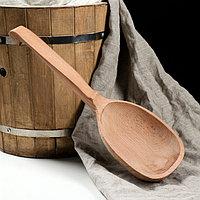 Черпак деревянный, 350 мл, массив бука, фото 1