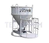 Бадья для бетона Zitrek БН-2,0 (люлька, воронка, лоток) низкая