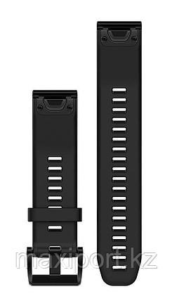 Ремешок силиконовый черный 20мм для Garmin fenix 5s, fenix 5s plus, fenix 6s, фото 2