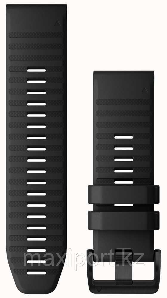 Ремешок силиконовый черный 20мм для Garmin fenix 5s, fenix 5s plus, fenix 6s