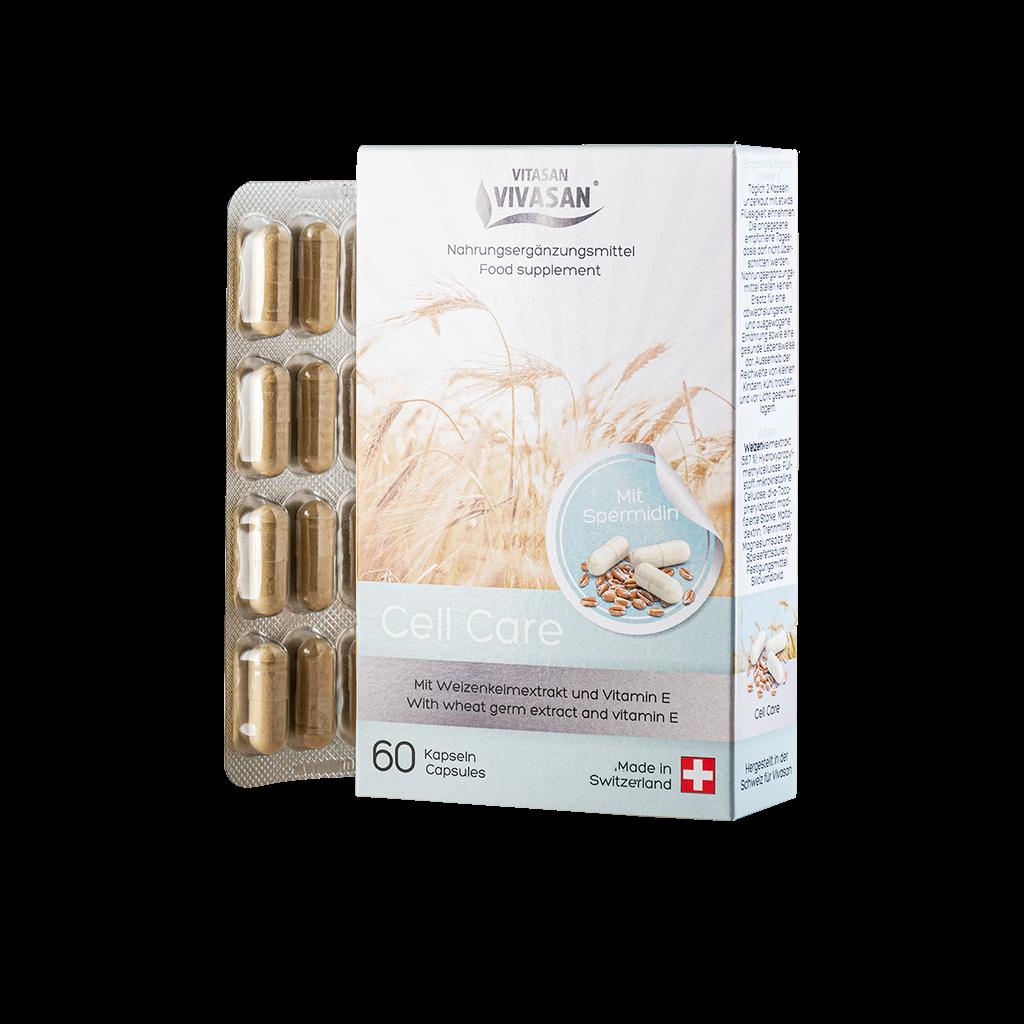 Забота о клетке(капсулы) 60 шт. Экстракта зародышей пшеницы + витамин Е.