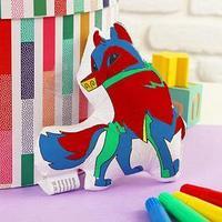 Игрушка-раскраска 'Собачка'(без маркеров) в пакете