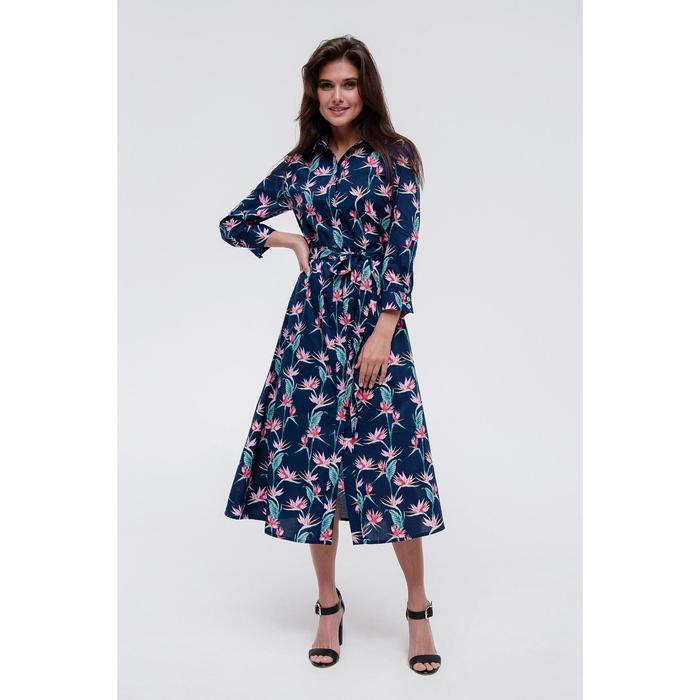 Платье-рубашка MIST, р. 44-46, синий