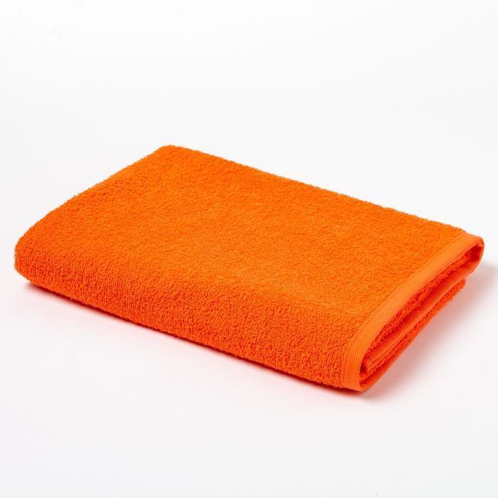 Полотенце махровое Экономь и Я 70х130 см, цв. ярко-оранжевый, 100% хлопок