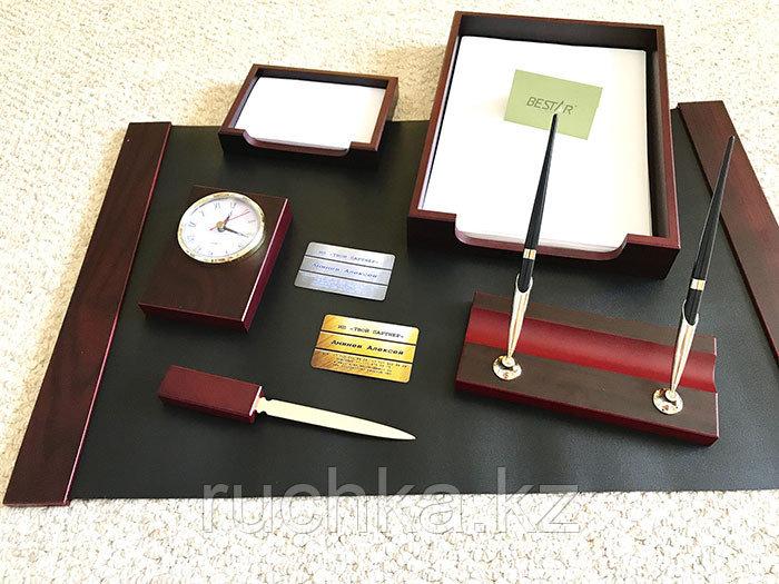 Настольный набор для руководителя Bestar, махагон, 6 предметов - фото 1