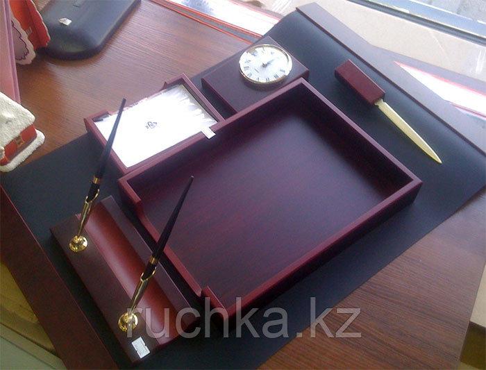 Настольный набор для руководителя Bestar, махагон, 6 предметов - фото 4