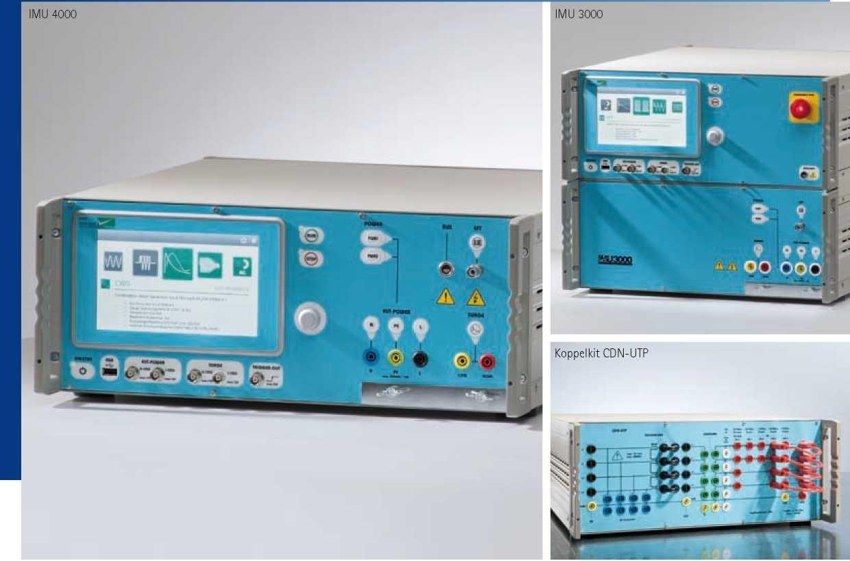 IMU 4000 / IMU 3000 Испытательная установка для исследований проводной помехоустойчивости