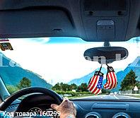 Автомобильный ароматизатор боксерские перчатки для машины американский флаг 8,5 см