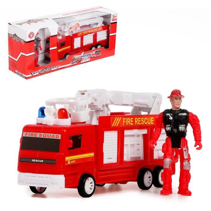"""Машина """"Пожарная служба"""" с фигуркой человека, свет и звук"""