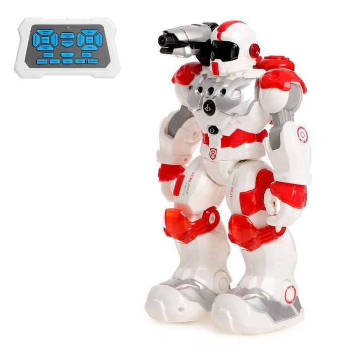 """Робот радиоуправляемый, интерактивный """"Пожарный"""", световые и звуковые эффекты, стреляет"""