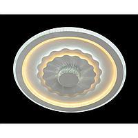 Светильник с ПДУ 671146/1 LED 154Вт диммер 3 режима 3000-6000К белый 48х48х8 см