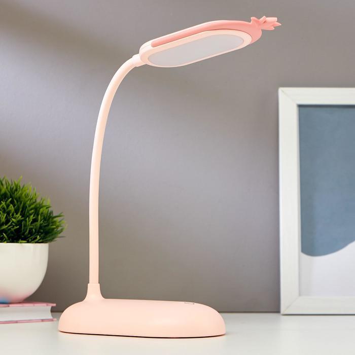 Лампа настольная 1676/1 24хLED 4Вт  3 режима USB АКБ МИКС 15,5х9,3х38,5 см