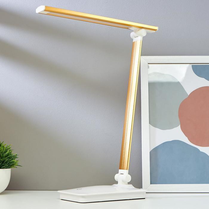Лампа настольная сенсорная 16097/1GD LED 4Вт USB боло-золотой 28,5х10,3х37,5 см