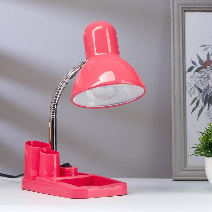 Настольная лампа 1х60вт E27 розовый