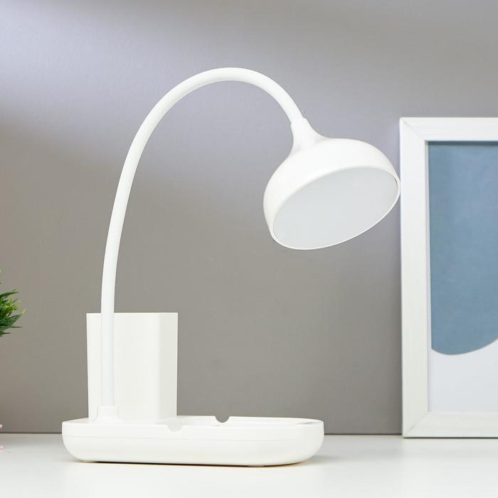 Лампа настольная сенсорная 91020/1 LED 6Вт USB AKB 3 режима диммер белый 10х16х42 см