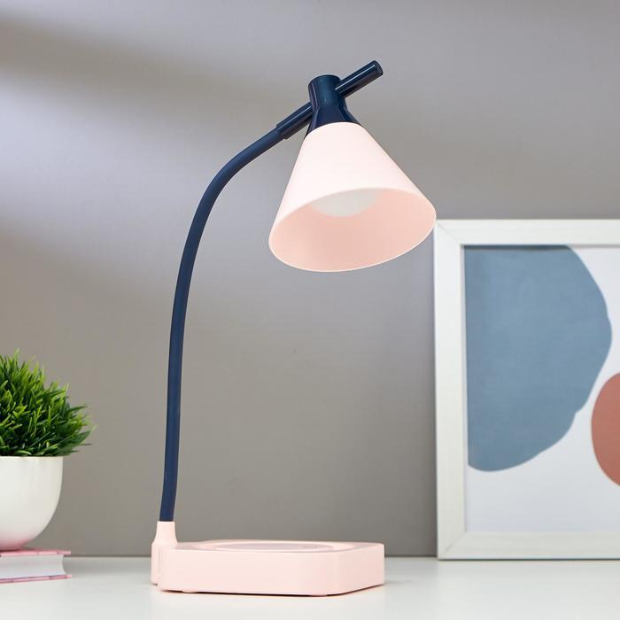 Лампа настольная 1667/1PK LED 3Вт 3000-6000К USB АКБ диммер розово-черный 11,3х13,5х37,5 см   509156