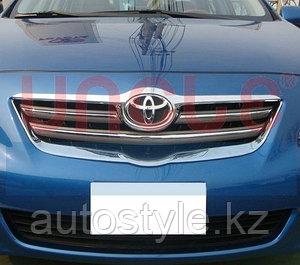 Тюнинг решетки Toyota Corolla 2007-, тюнинг хром по контуру