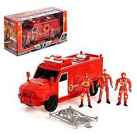 """Машина """"Пожарная служба"""" с фигурками человека, свет и звук, фото 1"""