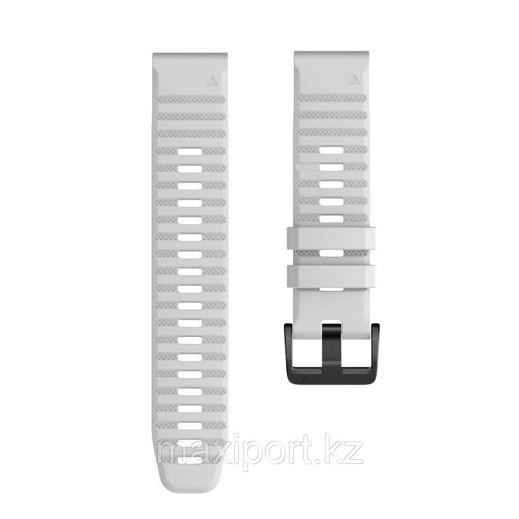 Ремешок силиконовый серый 20мм для Garmin fenix 5s, fenix 5s plus, fenix 6s