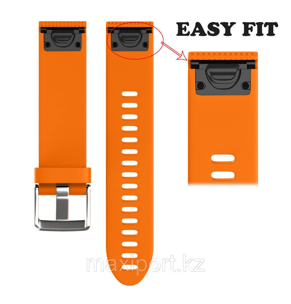 Ремешок силиконовый оранжевый 20мм для Garmin fenix 5s, fenix 5s plus, fenix 6s