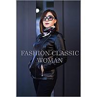 Короткая женская куртка без ворота, из экокожи
