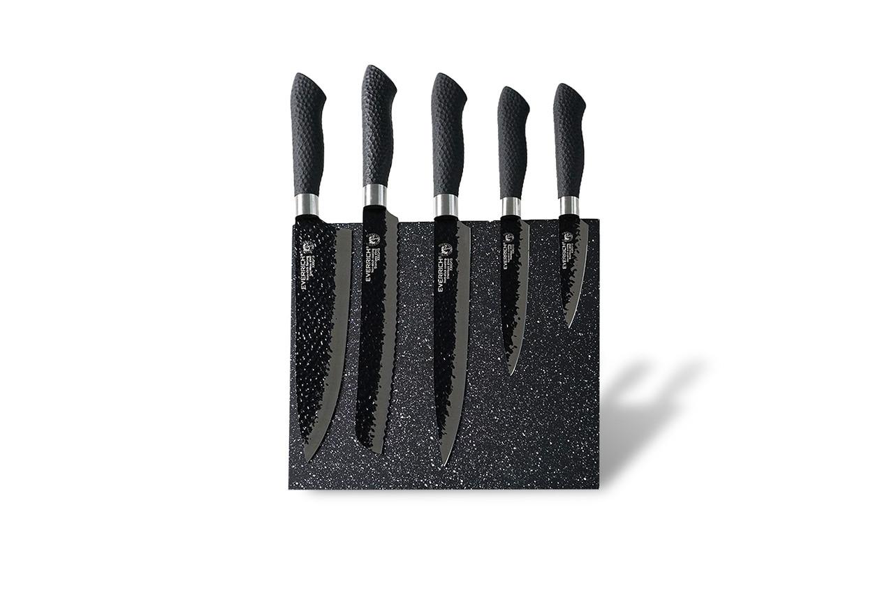 Набор ножей с магнитной подставкой Everich ER-0055 (BL) 6 предметов