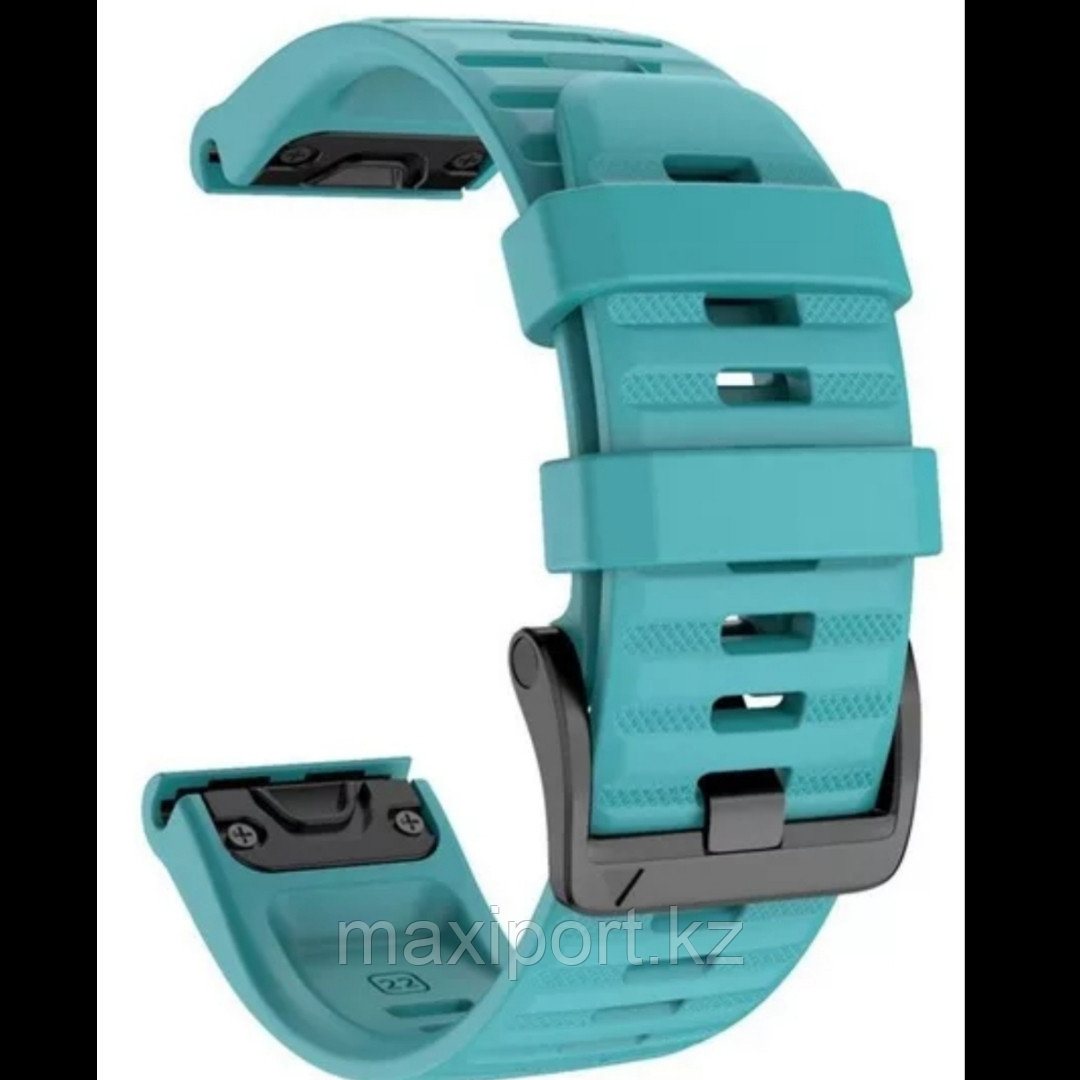 Ремешок силиконовый зелено-голубой 20мм для Garmin fenix 5s, fenix 5s plus, fenix 6s