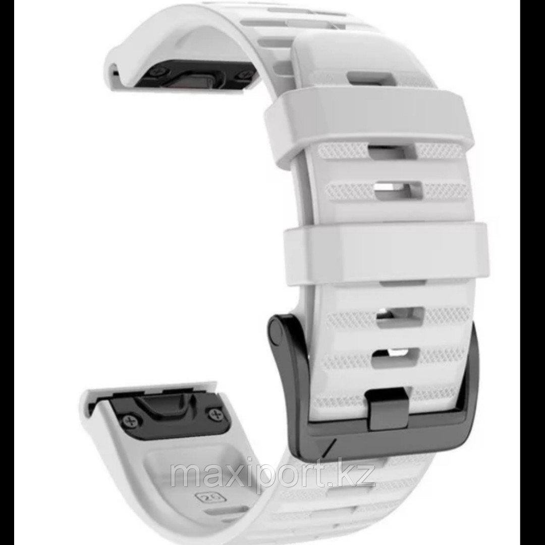 Ремешок силиконовый белый 20мм для Garmin fenix 5s, fenix 5s plus, fenix 6s