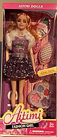 Кукла Барби большая с косметикой, в коробочке (руки гнутся)