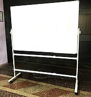 Доска магнитно-маркерная 2-х сторонняя мобильная 100*150 см, фото 1