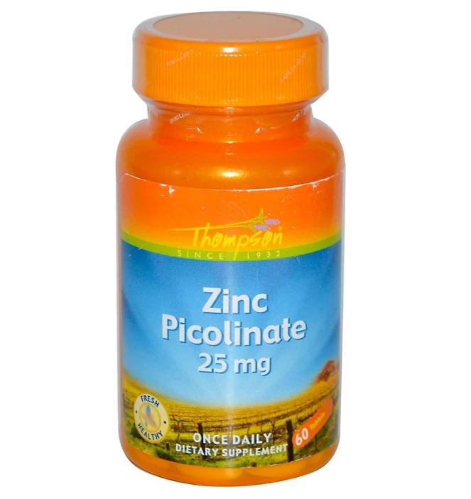 Thompson, Пиколинат цинка, 25 мг, 60 таблеток