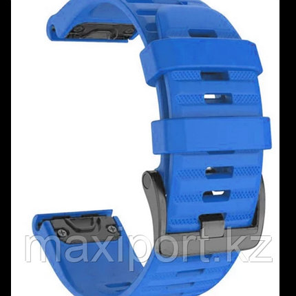 Ремешок силиконовый цвет синий бархат 20мм для Garmin fenix 5s, fenix 5s plus, fenix 6s, фото 2