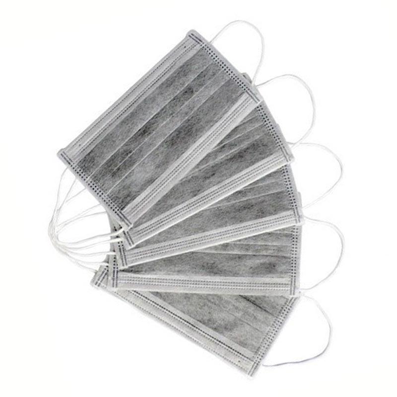 Маска одноразовая защитная 1 шт угольная