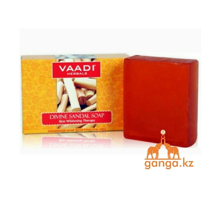 Мыло с Сандалом и Куркумой (Divine sandal soap VAADI Herbals), 75 гр