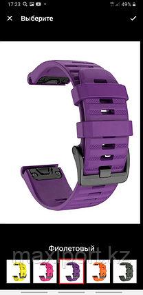 Ремешок силиконовый фиолетовый 20мм для Garmin fenix 5s, fenix 5s plus, fenix 6s, фото 2