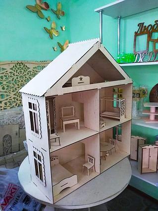Кукольные эко домики (в комплекте 11 предметов мебели)