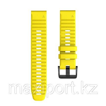 Ремешок силиконовый желтый 20мм для Garmin fenix 5s, fenix 5s plus, fenix 6s, фото 2
