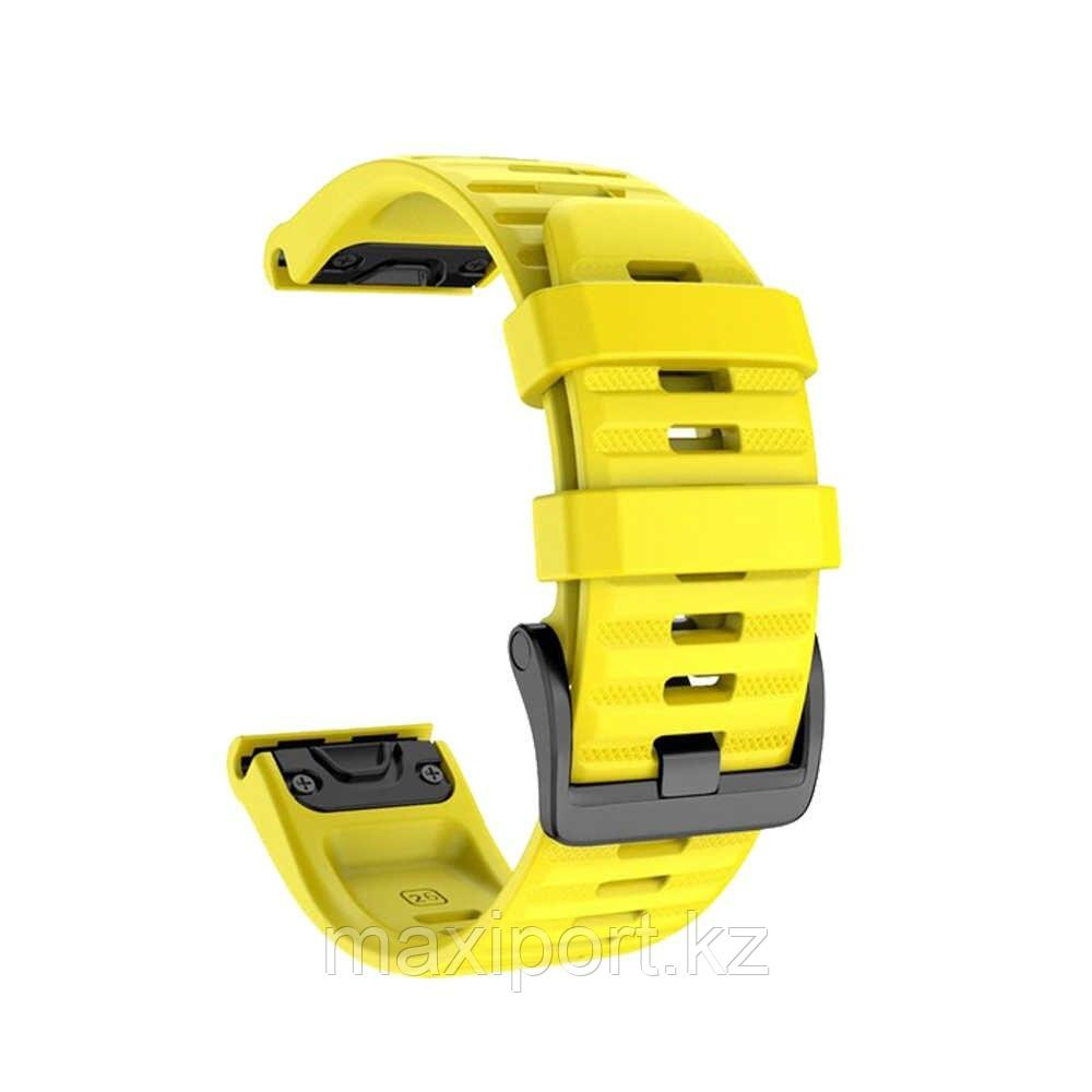 Ремешок силиконовый желтый 20мм для Garmin fenix 5s, fenix 5s plus, fenix 6s