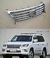 Решетка радиатора на Lexus LX 570 2012-15 Рестайлинг