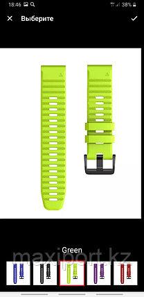 Ремешок силиконовый зеленый 20мм для Garmin fenix 5s, fenix 5s plus, fenix 6s, фото 2
