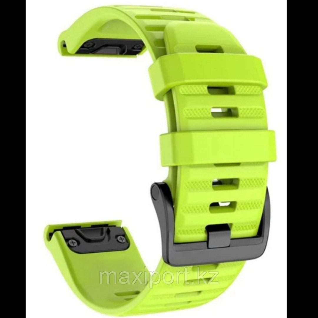 Ремешок силиконовый зеленый 20мм для Garmin fenix 5s, fenix 5s plus, fenix 6s